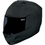 Icon Alliance Dark - Full Face Helmet with Clear and Smoke Shield