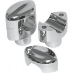 "LA Choppers 1 1/4"" Mohawk Hefty Risers in Chrome (1.5"" Rise)"