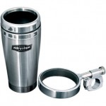 Drink Holder with Stainless Steel Mug - Mounts to Bars - By Kuryakyn