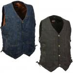 Concealed Carry Denim Classic Vest with Side Laces