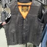 Size 46 Tall Straight Bottom Side Laced Vest with Gun Pockets by Milwaukee Leather - CLEARANCE