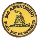 Round 2nd Amendment Patch with the Gadsden Flag Snake