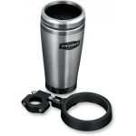 "SNAP-AND-GO DRINK HOLDER WITH STAINLESS STEEL MUG (Mounts to 1"" bars or clutch/brake perch)"