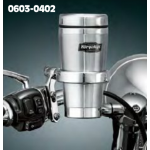 Drink Holder with Stainless Steel Mug - Mounts to Clutch/Brake Perch - By Kuryakyn