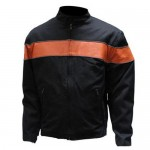 Textile Jacket with Orange Stripe