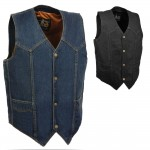 Denim Motorcycle Vest by Milwaukee Leather