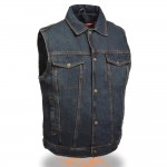 Blue Denim Biker Vest by Milwaukee Leather