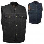 Denim Gun Pocket Motorcycle Vest