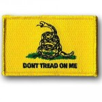 Gadsden Flag Patch  3 X 2