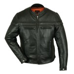 Sporty Scooter Jacket made with Premium Naked Cowhide Leather