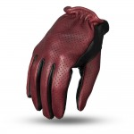 Perforated Roper Gloves by First Manufacturing Company - Perforated Oxblood Black