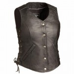 TALL Womens Side Laced Vest with Gun Pockets