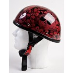 Novelty Skull Half Helmet - Wine