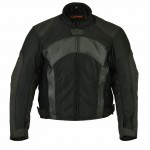 Mesh/Leather Padded Jacket For Men - MJ750BK