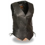 Women's Premium Naked Classic Snap Front Vest with Side Laces - RTML1254