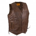 Brown Motorcycle Vest