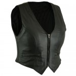 Ultra Soft Drum Dyed Naked Lambskin Vest (LU8815)