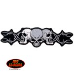 Barbed Wire Skull Patch (Various Sizes)