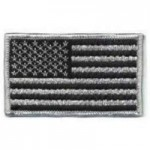 US Flag Black & Silver