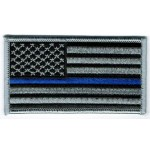 Thin Blue Line Flag Patch 2 x 3.5