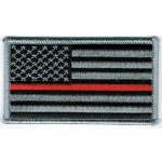 Thin Red Line Flag Patch 2 x 3.5