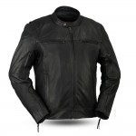First Manufacturing Top Performer Leather Motorcycle Jacket