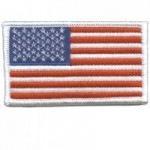 US FLag Patch with White Border